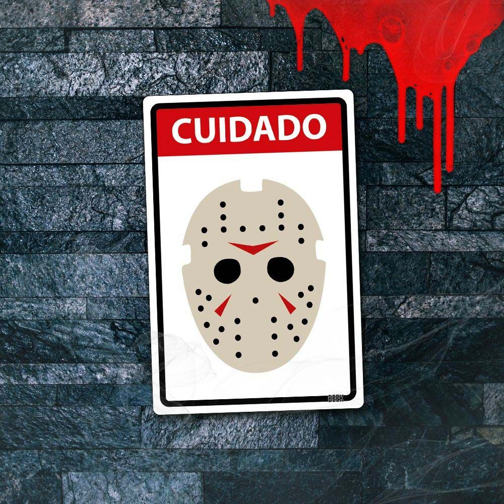 Placa Decorativa HALLOWEEN Cuidado Assassino