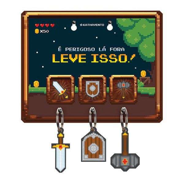 Porta Chave Game Retrô
