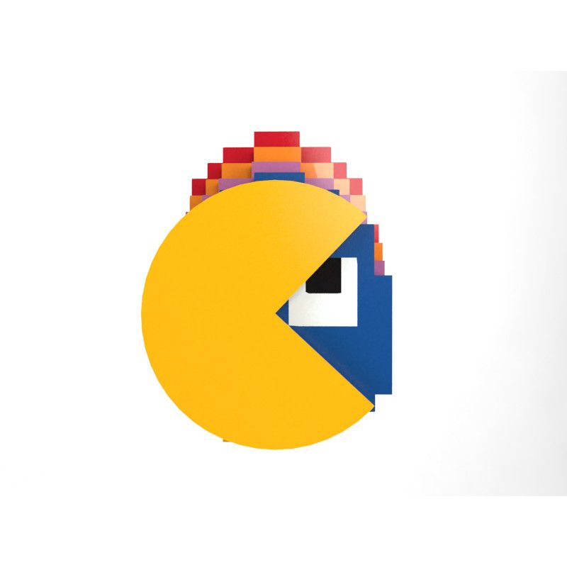 Porta Copo Pac Man MDF
