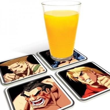 Porta Copos Street Fighter Personagens E II HD Remix