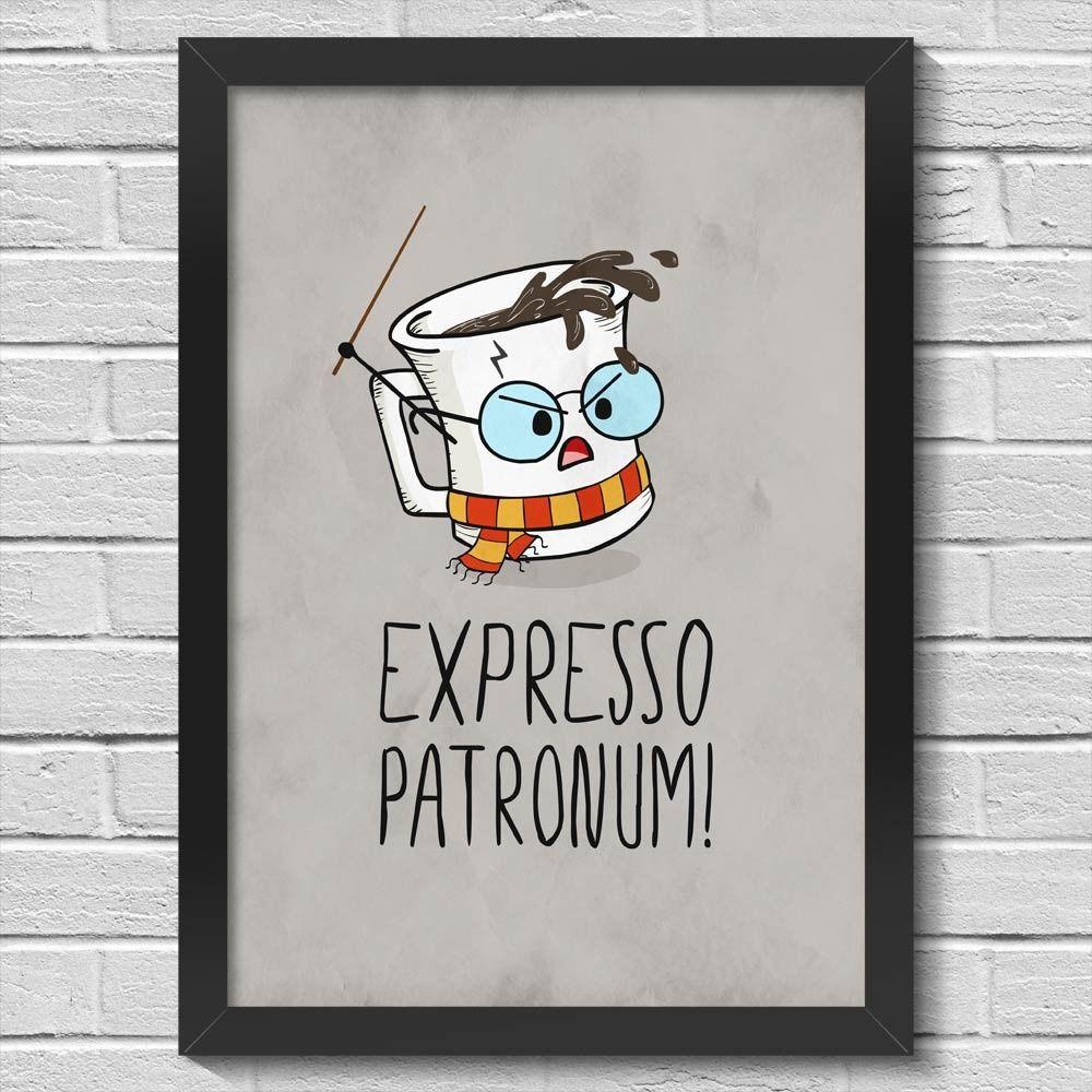 Quadro com Moldura - Expresso Patronum 42 x 30 cm