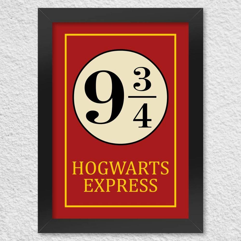 Quadro com Moldura - Hogwarts Express 42 X 30 CM