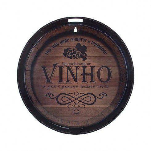 Quadro Redondo Barril de Vinho