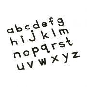 Alfabeto Móvel Bastão Pequeno sem Caixa - Preto