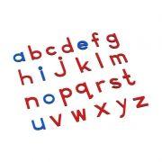 Alfabeto Móvel Bastão Pequeno sem Caixa - Vermelho e Azul