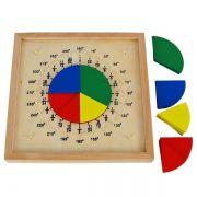 Círculos de Fração Coloridos