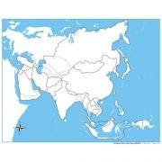Controle para Mapa da Ásia sem Partes Nomeadas