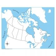Controle para Mapa do Canadá sem Partes Nomeadas