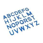 Letras Bastão Maiúsculas do Alfabeto Móvel Pequeno - Azul