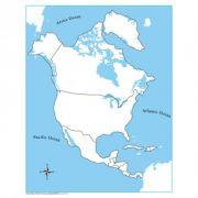 Controle para Mapa da América do Norte sem Partes Nomeadas