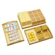 Material Dourado Completo (Contas e Madeira)
