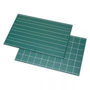 Quadros Negros (Verdes) com Linhas Duplas e Quadrados - 2 peças