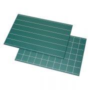 Quadros Negros (Verdes) com Linhas Simples e Quadrados - 2 peças