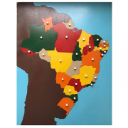 Quebra-Cabeça do Mapa do Brasil (Estados) + Controle com Partes Nomeadas