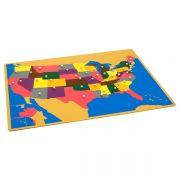Quebra-Cabeça do Mapa dos EUA