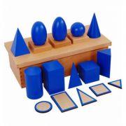Sólidos Geométricos com Suporte, Bases e Caixa