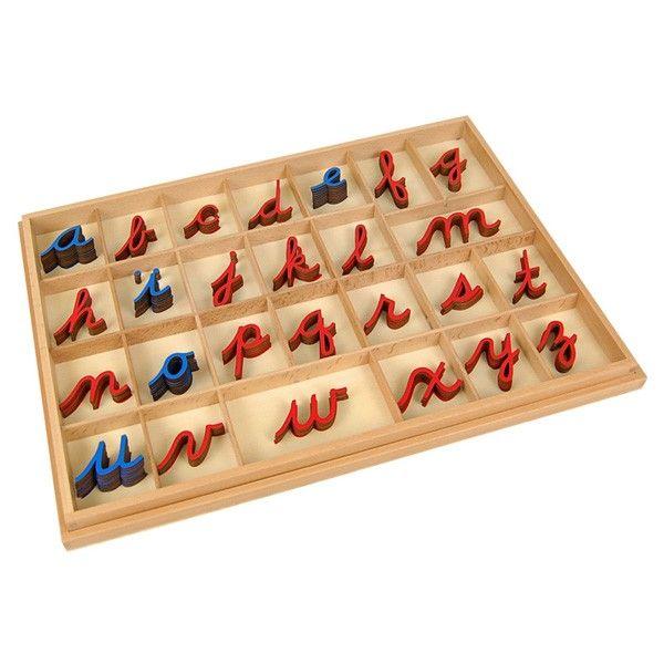 Alfabeto Móvel Cursivo Pequeno com Caixa