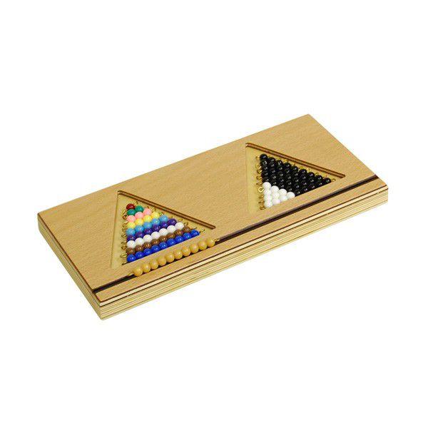 Bandeja 2 para Escada de Contas Coloridas 1 a 9 Dupla