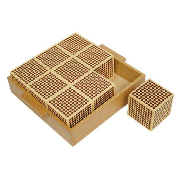 Bandeja para 9 Cubos de Madeira de 1000