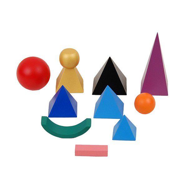 Símbolos Sólidos de Gramática 3D em Madeira com Bandeja