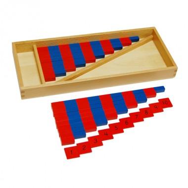 Conjunto de Barras Vermelhas e Azuis - Pequeno