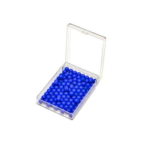 Caixa com 100 Contas Azuis para Divisão Longa