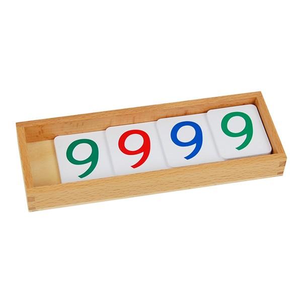 Caixa com Numerais em Cartões Plásticos (1-9000) Grande