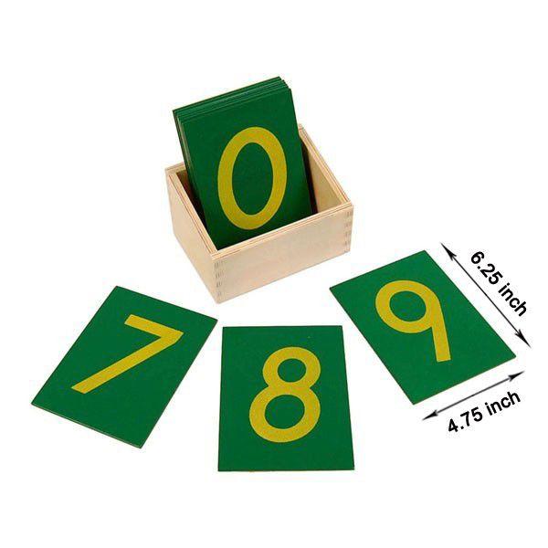 Caixa com Números de Lixa Grande com Caixa