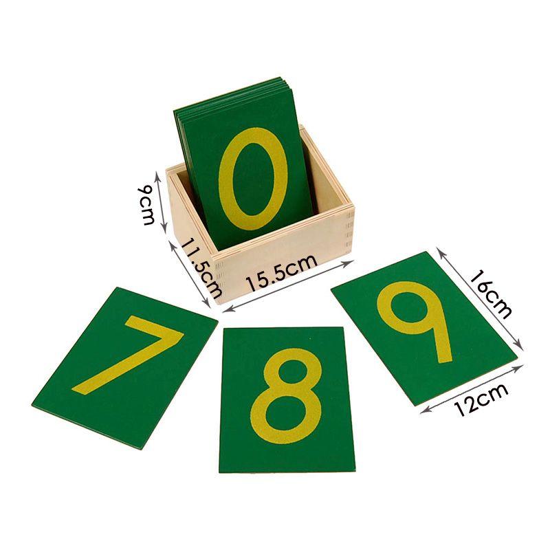Caixa com Números de Lixa - Grande