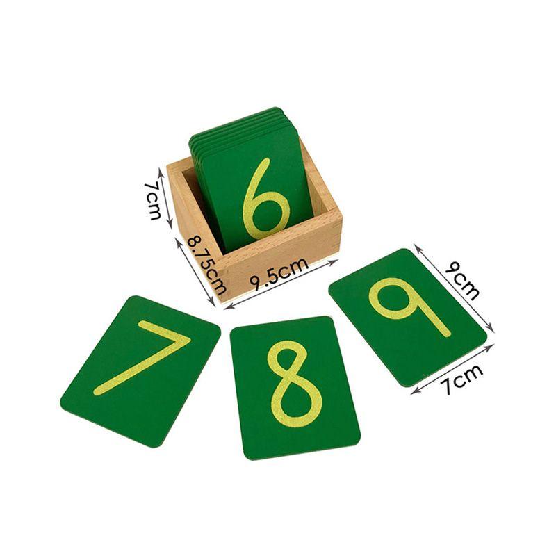 Caixa com Números de Lixa - Pequeno