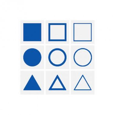 Cartões para Bandeja de Introdução de Figuras Geométricas