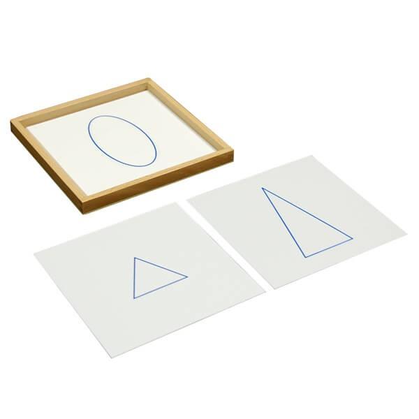 Cartões para Sólidos Geométricos com Bandeja