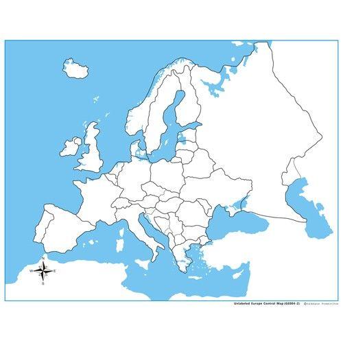 Controle para Mapa da Europa sem Partes Nomeadas
