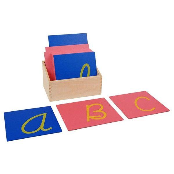 Letras Cursivas Maiúsculas de Lixa com Caixa