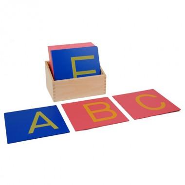 Letras Bastão Maiúsculas de Lixa com Caixa