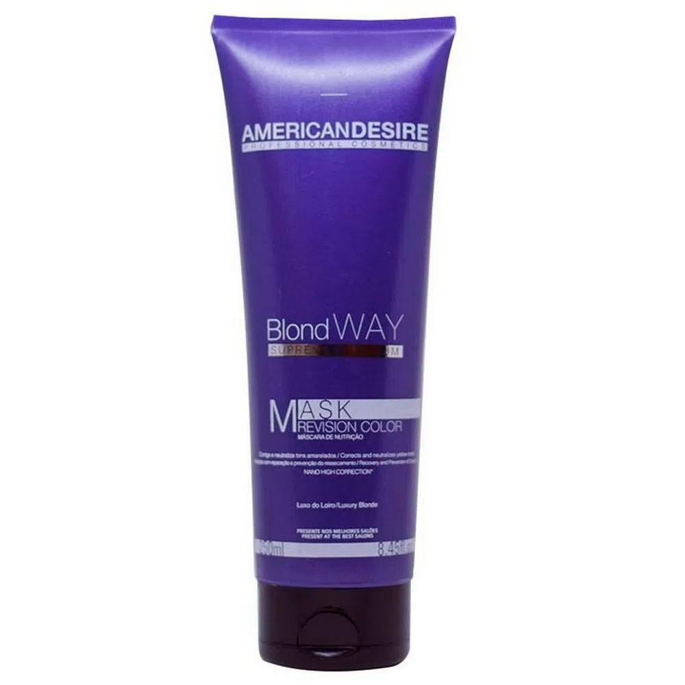 Máscara American Desire Blond Way Supreme Platinum 250 ml