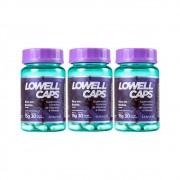 Kit Lowell Caps Vitaminas E Nutrição Capilar 3x30 Cápsulas