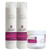 Kit Vegas Professional Violet Home Care 3 produtos
