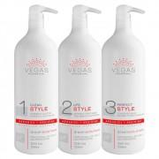 Kit Escova Progressiva Vegas Professional Style 3 produtos
