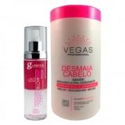 Kit Vegas Máscara Desmaia cabelo + Fluído 2 Produtos