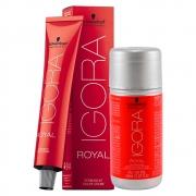 Kit 1 Coloração Igora Royal 8-0 e 1 ox 20 Vol 60 ml