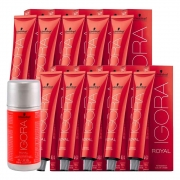 Kit 5 Coloração Igora Royal 8-77 5 9-7 10 ox 30 Vol 60 ml