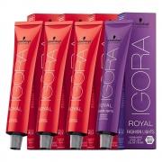Kit 1 Coloração Igora Royal 8-77 1 9-7 1 6-77 1 L-77