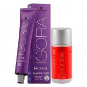 Kit 1 Coloração Igora Royal L-77 e 1 ox 20 Vol 60 ml