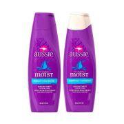 Kit Aussie Mega Moist Shampoo e Condicionador 400ml