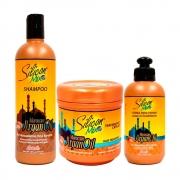 Kit Silicon Mix Moroccan Argan Oil - 3 Produtos