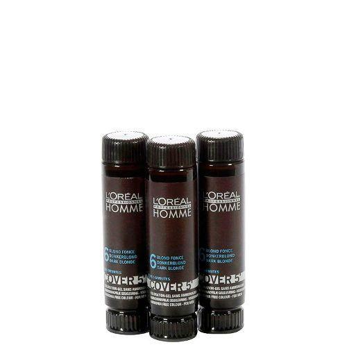 Coloração L'oréal Professionnel Homme Cover 5' 6 Louro Escuro - 3x5
