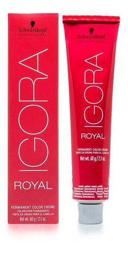 Kit 10 Coloração Igora Royal 7.0 Louro Médio Natural 60g