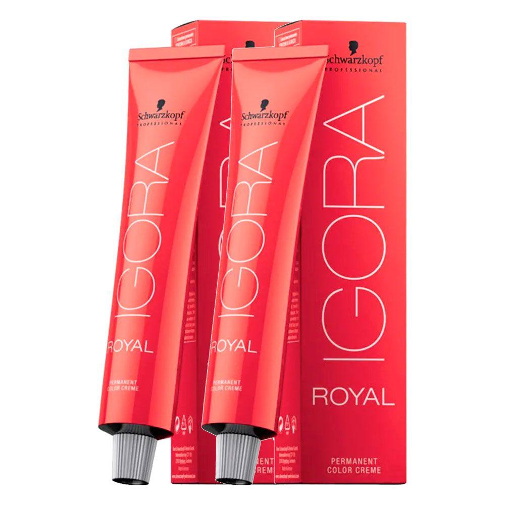Kit 01 Coloração Igora Royal 9.7 + 1 Igora Royal 0.77