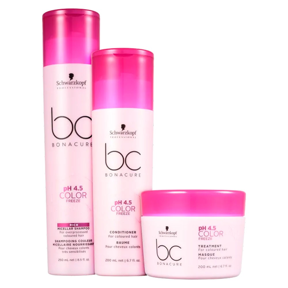 Kit Schwarzkopf BC pH 4.5 Color Freeze Trio - 3 Produtos